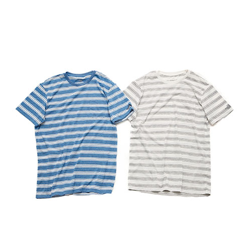 S/S COLOR HEATHERED MESH BORDER TEE